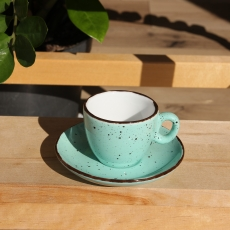 Šálka na espresso s podšálkou zelená