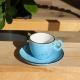 Šálka na espresso modrá