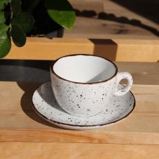 Šálka na cappuccino s podšálkou biela