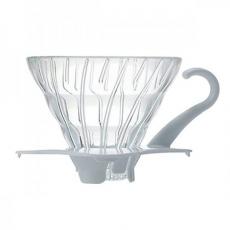 Hario dripper V60-01 sklo - biely