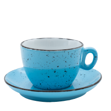 Šálka na cappuccino s podšálkou modrá