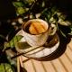 Šálka na espresso s podšálkou biela